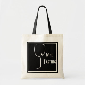 Custom designer wine tasting tote bag