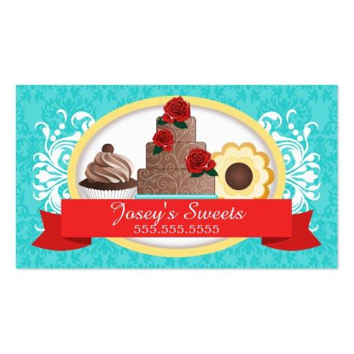 Sugar cookie business card templates bizcardstudio custom desserts bakery business card templates colourmoves