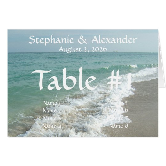 Custom Destination Wedding Table Name Place Cards