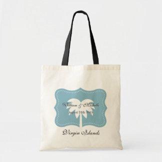 Custom destination wedding tote bag with chic logo