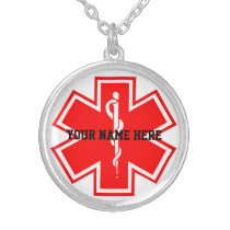 Custom Diabetic Medical id Necklace