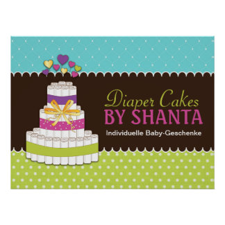 Custom Diaper Cake Poster