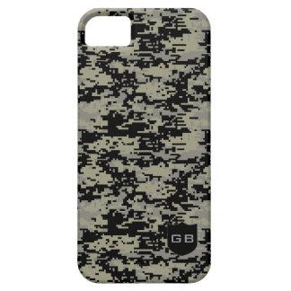 Custom Didgital Camo Monogram iPhone 5/5S Cases
