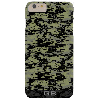 Custom Didgital Camo Monogram iPhone 6 Plus Case