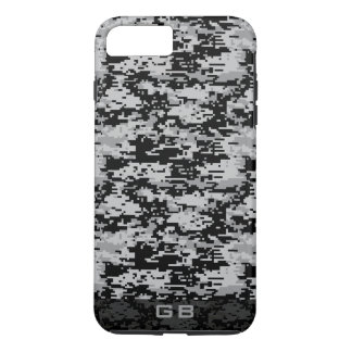 Custom Didgital Camo Monogram iPhone 7 Plus Case