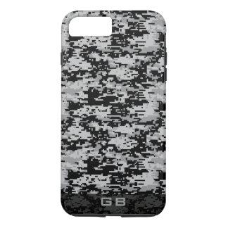 Custom Didgital Camo Monogram iPhone 7 Plus Case