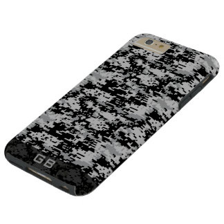 Custom Didgital Camo Monogram Tough iPhone 6 Plus Case
