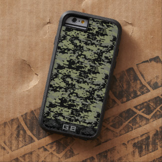 Custom Didgital Camo Monogram Tough Xtreme iPhone 6 Case