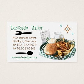 Custom Diner, Deli or Cafe Business Card