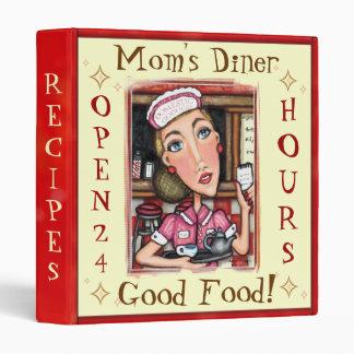 Custom Diner Waitress Recipe Binder