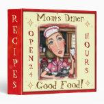 Custom Diner Waitress Recipe Binder Medium