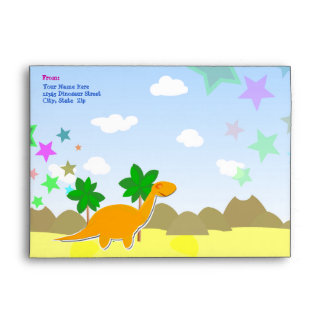 Custom Dinosaur Envelopes