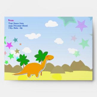 Custom Dinosaur Envelopes