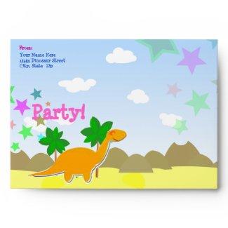 Custom Dinosaur Party Envelopes envelope