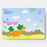 Custom Dinosaur Party Envelopes