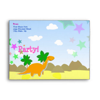 Custom Dinosaur Party Envelopes
