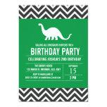 "Custom Dinosaurs Birthday Party Invitation for Boy 5"" X 7"" Invitation Card"