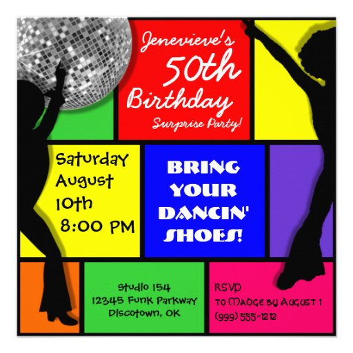 Disco Party Invitations with nice invitations sample