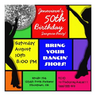 Custom Disco Birthday Party Invitations