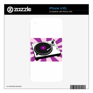 Custom Disco Turntable Retro Record Decal For The iPhone 4S