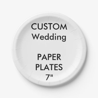 Custom Disposable Wedding Paper Cake Plates 7