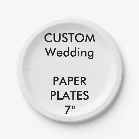 Custom Disposable Wedding Paper Cake Plates 7\   sc 1 st  Zazzle & Custom Disposable Wedding Paper Cake Plates 7\