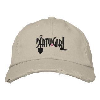 Custom Distressed Dirty Girl Baseball Cap