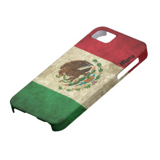 Custom Distressed Mexican Flag iPhone Case