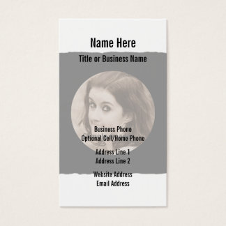 Custom DIY | Personalized Photo Frame Business Card
