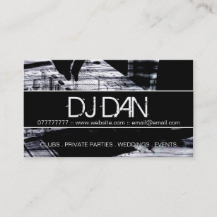 Dj business cards 1400 dj business card templates custom dj business cards fbccfo Image collections