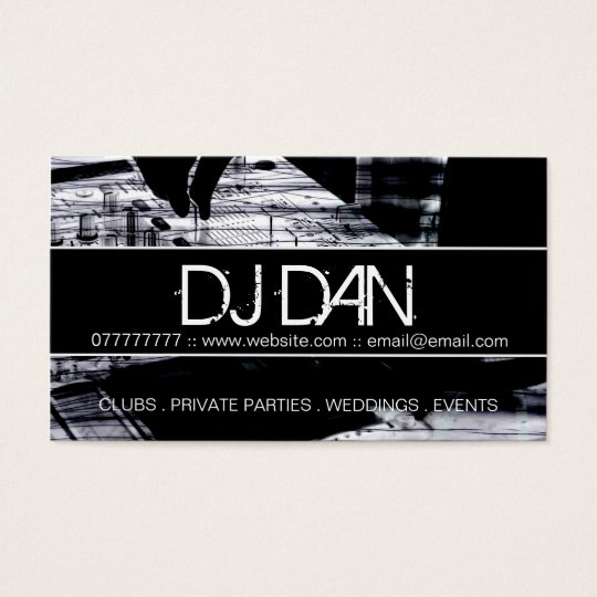Custom dj business cards zazzle custom dj business cards reheart Image collections