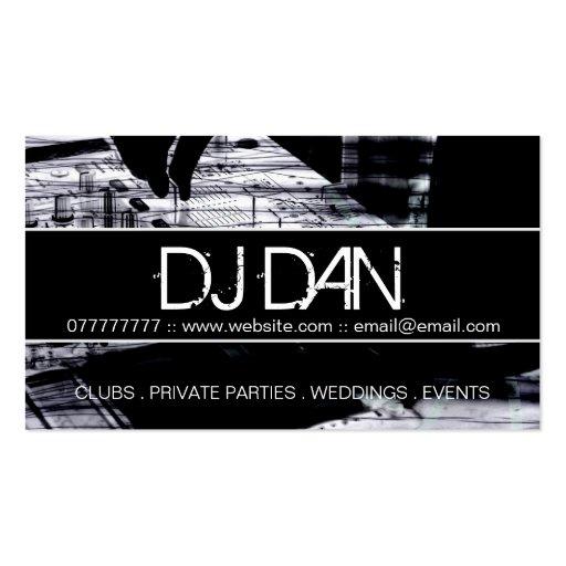 Custom DJ Business Cards (front side)
