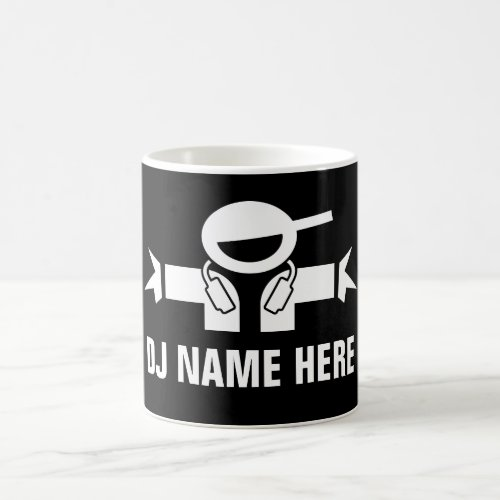 Custom DJ Disk Jockey coffee mug for music deejay