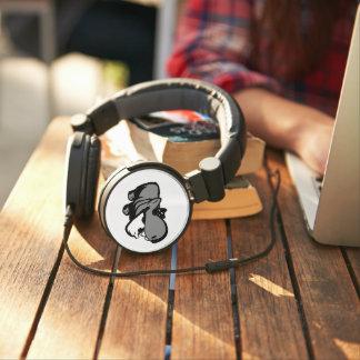 Custom DJ Style Headphones - Summertime Hippo