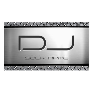 Custom DJ - Unique Heavy Metal Look Double-Sided Standard Business Cards (Pack Of 100)