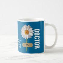 Custom Doctor's Name Smiling Daisy Gift Mugs