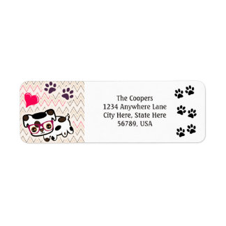 Custom Dog Art Return Address Labels