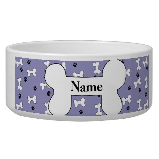 Custom Dog Bone Dog Bowl