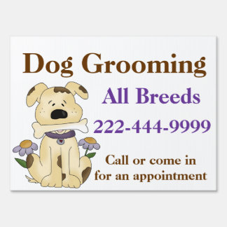 Custom Dog Groomer Yard Sign
