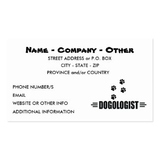 Custom Dog Lover Double-Sided Standard Business Cards (Pack Of 100)