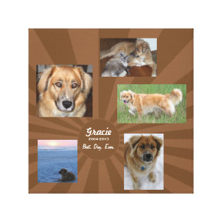 Custom Dog Memorial Canvas Print
