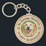 "Custom Dog Memorial Keepsake Keychain<br><div class=""desc"">A sweet and simple custom pet memorial keychain to pay tribute to a loved pet. Add an image and change the text to create a gift they will cherish.</div>"