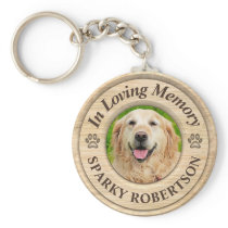 Custom Dog Memorial Keepsake Keychain