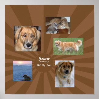 Custom Dog Memorial Poster