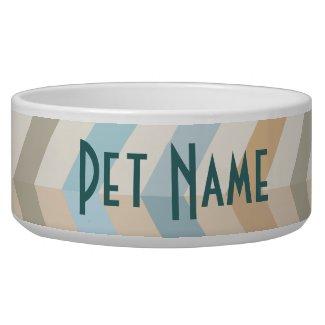 Custom Dog or Cat Feeding Bowl (Chevron)