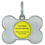 Custom Dog or Cat Medical Alert ID Tag Pet ID Tag