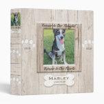 Custom Dog Photo Memorial Binder at Zazzle