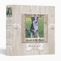 Custom Dog Photo Memorial Binder