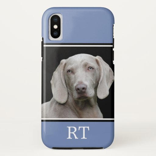 Custom Dog Photo Monogram Case-Mate iPhone Case