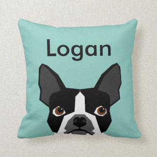 Custom Dog Pillow Boston Terrier Customizable Pet
